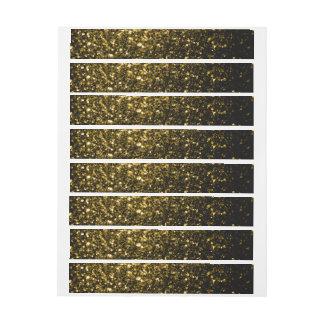 Chispas hermosas del oro amarillo etiquetas envolventes de dirección
