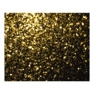 """Chispas hermosas del oro amarillo folleto 4.5"""" x 5.6"""""""