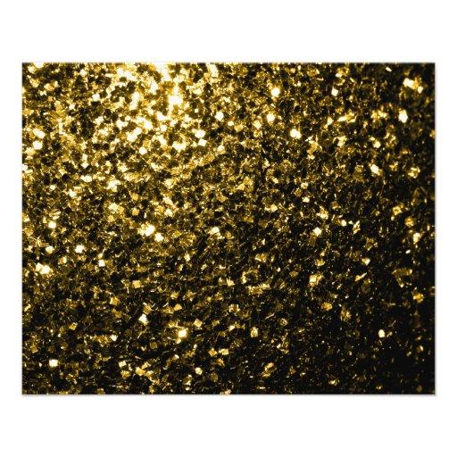 Chispas hermosas del oro amarillo tarjetón