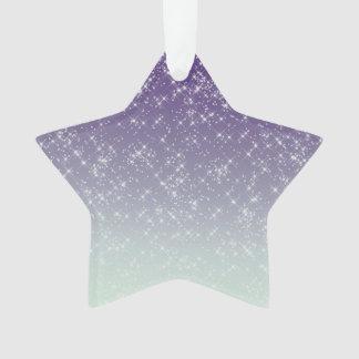 Chispas púrpuras de la luz de las estrellas