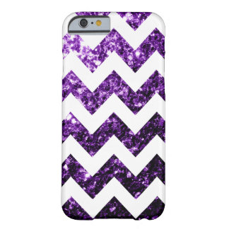 Chispas púrpuras del brillo + iPhone blanco 6 de Funda De iPhone 6 Barely There
