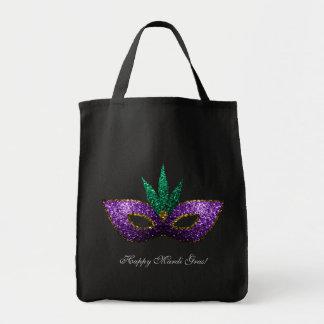 Chispas púrpuras del oro verde de la máscara del bolsa tela para la compra
