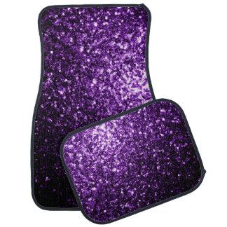 Chispas púrpuras hermosas del brillo alfombrilla de auto