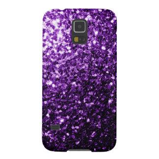 Chispas púrpuras hermosas del brillo carcasas para galaxy s5
