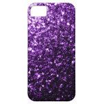 Chispas púrpuras hermosas del brillo iPhone 5 Case-Mate protectores