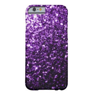 Chispas púrpuras hermosas del brillo funda de iPhone 6 slim
