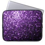 Chispas púrpuras hermosas del brillo fundas ordendadores