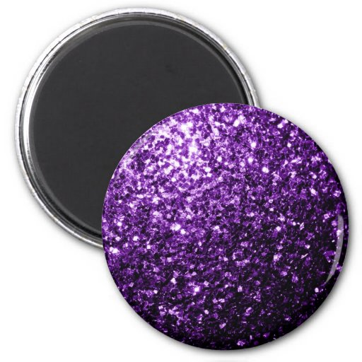 Chispas púrpuras hermosas del brillo imanes
