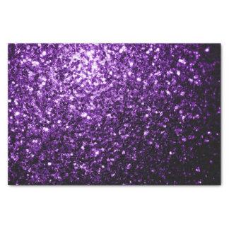 Chispas púrpuras hermosas del brillo papel de seda pequeño
