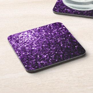 Chispas púrpuras hermosas del brillo posavasos