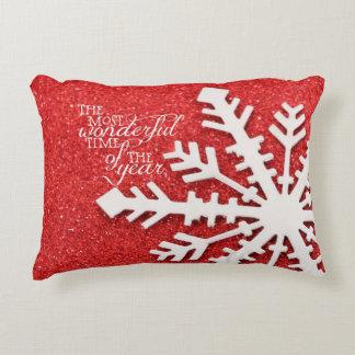 Chispas rojas con cita del navidad cojín decorativo