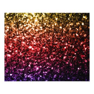 """Chispas rojas de la púrpura del amarillo hermoso folleto 4.5"""" x 5.6"""""""