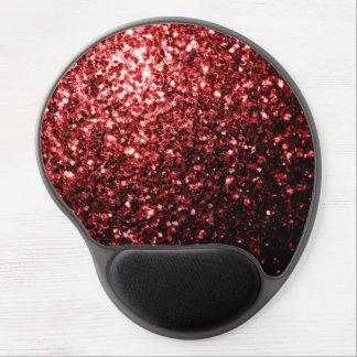 Chispas rojas del brillo del encanto hermoso alfombrilla con gel