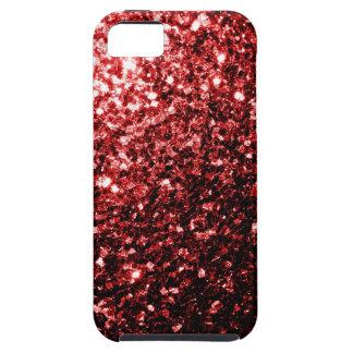 Chispas rojas del brillo del encanto hermoso iPhone 5 cárcasa