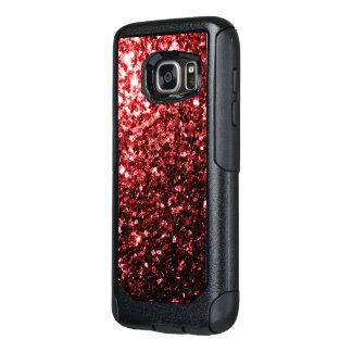 Chispas rojas del brillo del encanto hermoso funda otterbox para samsung galaxy s7