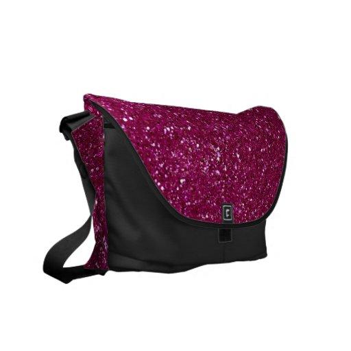 Chispas rosadas del brillo bolsa de mensajeria