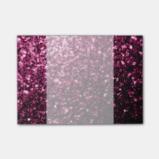Chispas rosadas hermosas del brillo nota post-it®