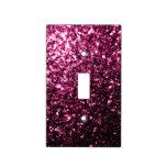Chispas rosadas hermosas del brillo cubiertas para interruptor