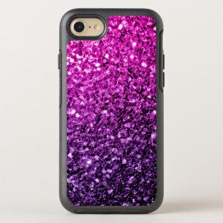 Chispas rosadas púrpuras hermosas del brillo de funda OtterBox symmetry para iPhone 7