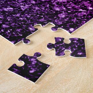 Chispas rosadas púrpuras hermosas del brillo de puzzle