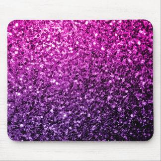 Chispas rosadas púrpuras hermosas del brillo de tapetes de ratón