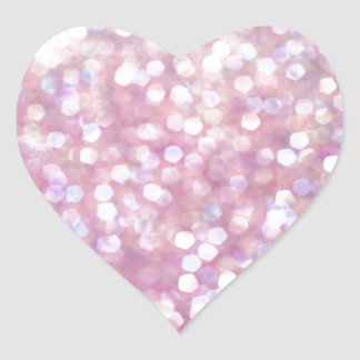 Chispas suaves del brillo de Bokeh Pegatina En Forma De Corazón