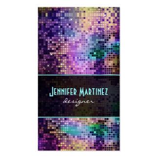 Chispas y modelo multicolores del brillo tarjetas de visita