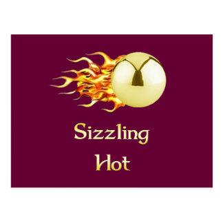 Chisporrotear el pinball caliente tarjetas postales