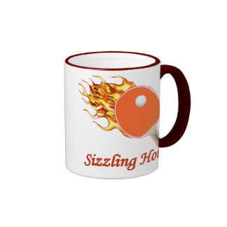 Chisporrotear ping-pong llameante caliente taza