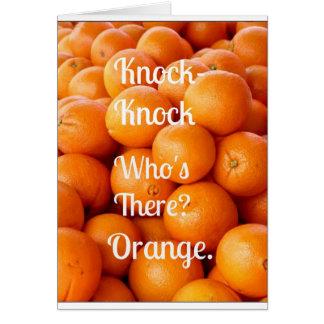 ¿Chiste anaranjado del Golpe-Golpe que siente Tarjeta De Felicitación