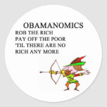 chiste anti conservador republicano de obama pegatina redonda