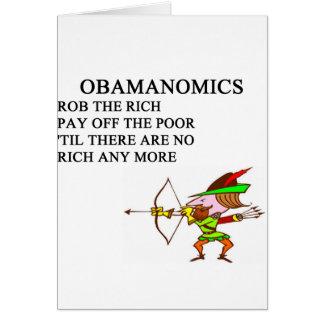chiste anti conservador republicano de obama tarjeta de felicitación