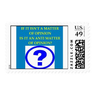 chiste anti de la materia de la física timbre postal