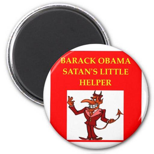 chiste anti de obama imán redondo 5 cm