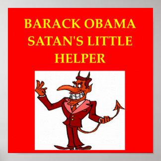 chiste anti de obama poster