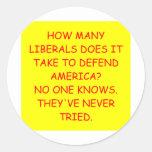 chiste anti liberal anti de obama pegatina redonda