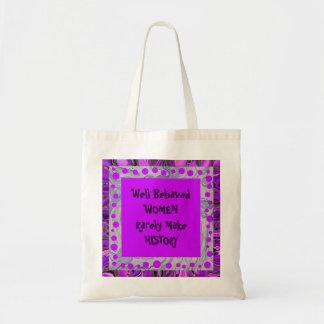 chiste bien comportado de las mujeres bolsa tela barata