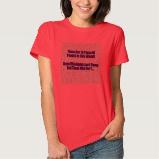 Chiste binario 3 de la matemáticas - camiseta poleras