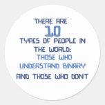 chiste binario pegatina redonda