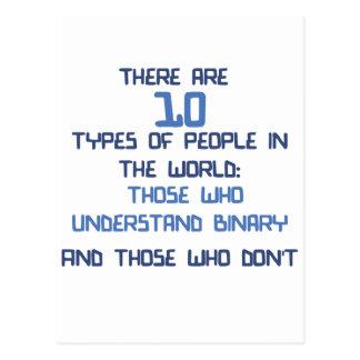 chiste binario tarjetas postales