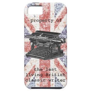 chiste británico del escritor iPhone 5 fundas