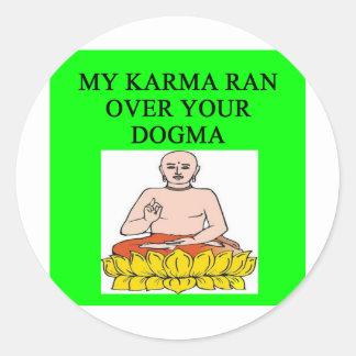 chiste budista de las karmas de la nueva edad etiquetas
