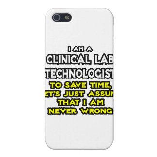 Chiste clínico de la tecnología del laboratorio. N iPhone 5 Carcasas