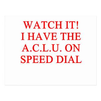 Chiste de ACLU Postales