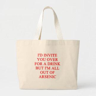 chiste de consumición bolsas lienzo