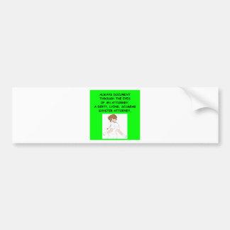 chiste de cuidado etiqueta de parachoque