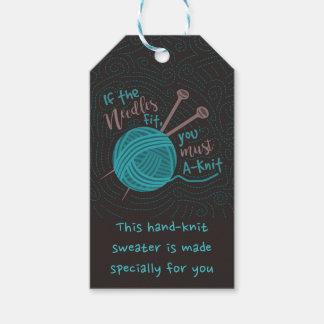 Chiste de encargo lindo divertido del hilado de etiquetas para regalos