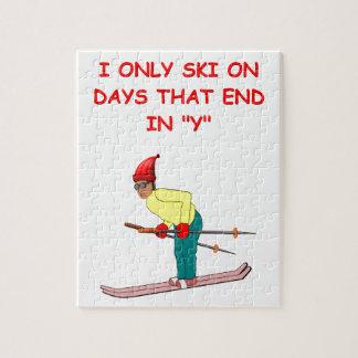 chiste de esquí puzzles con fotos