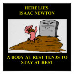 chiste de Isaac Newton Posters