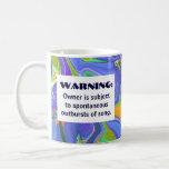 chiste de la advertencia de la canción taza de café